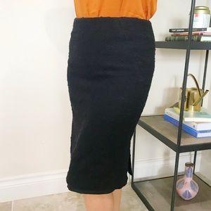 Theory Tweed Wool Pencil Skirt